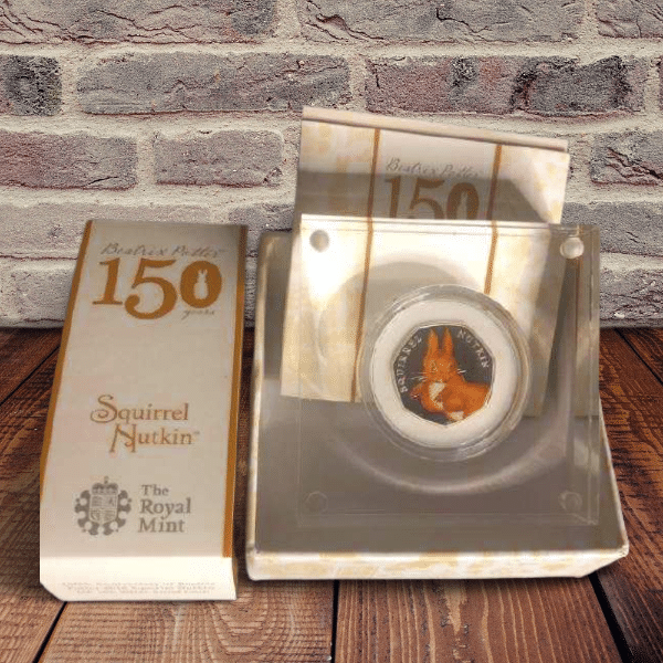 squirrel nutkin 50p coin silver