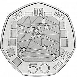 1992-1993 Royal Mint European Presidency 50p Fifty Pence Coin Uncirculated