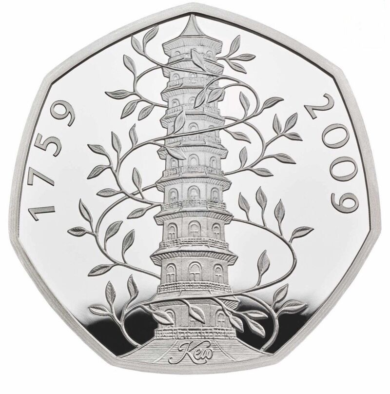 2009 Kew Gardens 50p Silver Proof