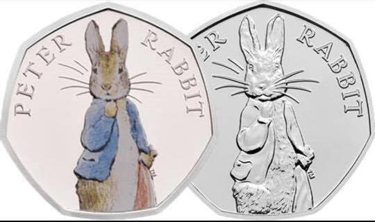 2019 Peter Rabbit 50p coin