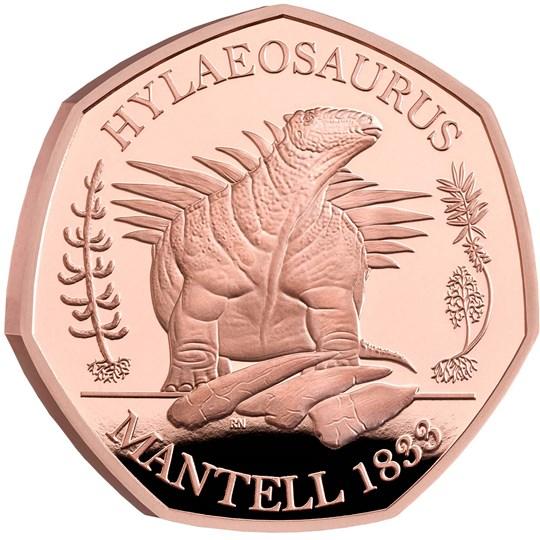 Hylaeosaurus 50p Gold coin