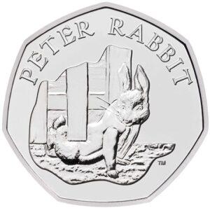 peter rabbit 50p coin 2020