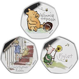 Winnie the Pooh and Friends 2020 UK Silver Proof Three-Coin Series