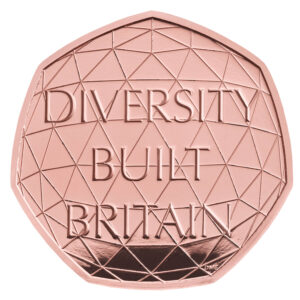 Diversity 50p coin Piedfort Gold Proof