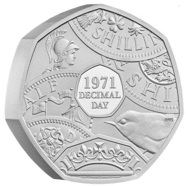 Decimal Day 50p PIEDFORT Silver Coin