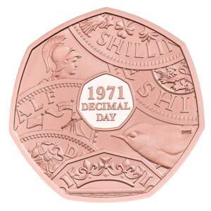Decimal Day 50p Gold Coin