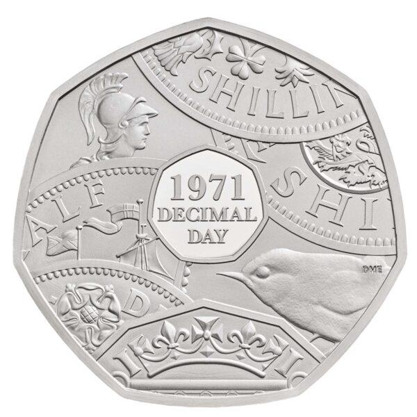 Decimal Day 50p Silver Coin