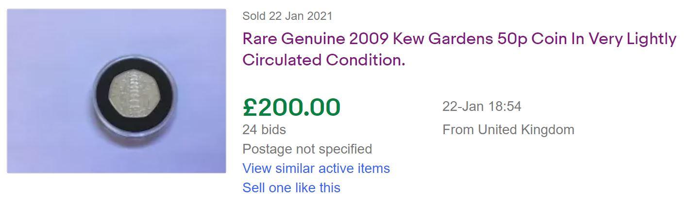 Kew Gardens 50p worth 2021
