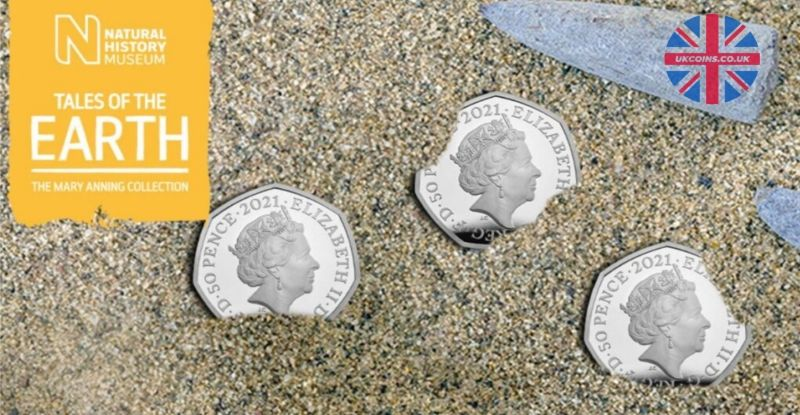 Mary Anning 50p coins