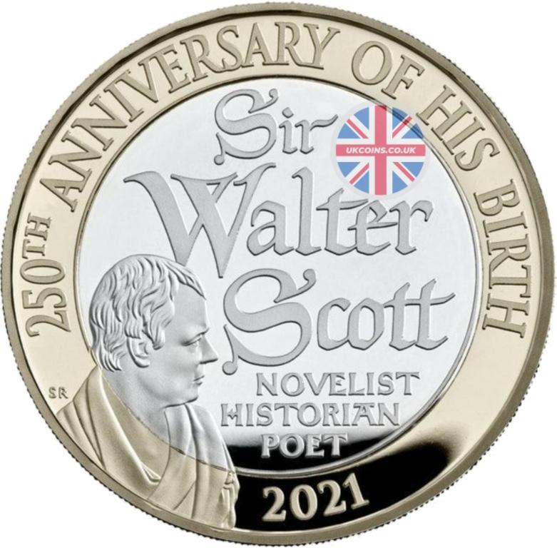 Sir Walter Scott Two Pound Coin