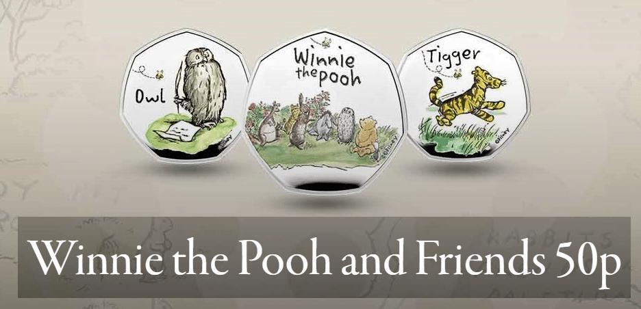 Winnie The Pooh 50p coins