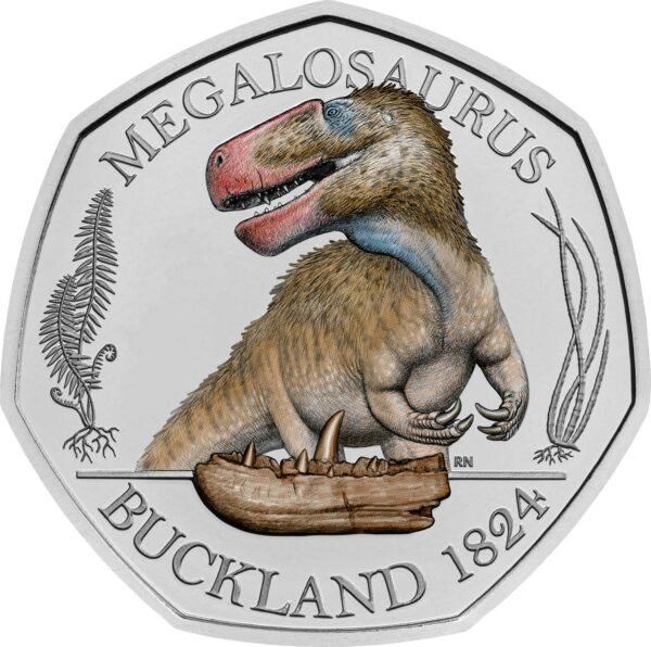Megalosaurus 50p Brilliant Uncirculated Colour Coin