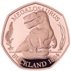 Megalosaurus 50p Gold coin