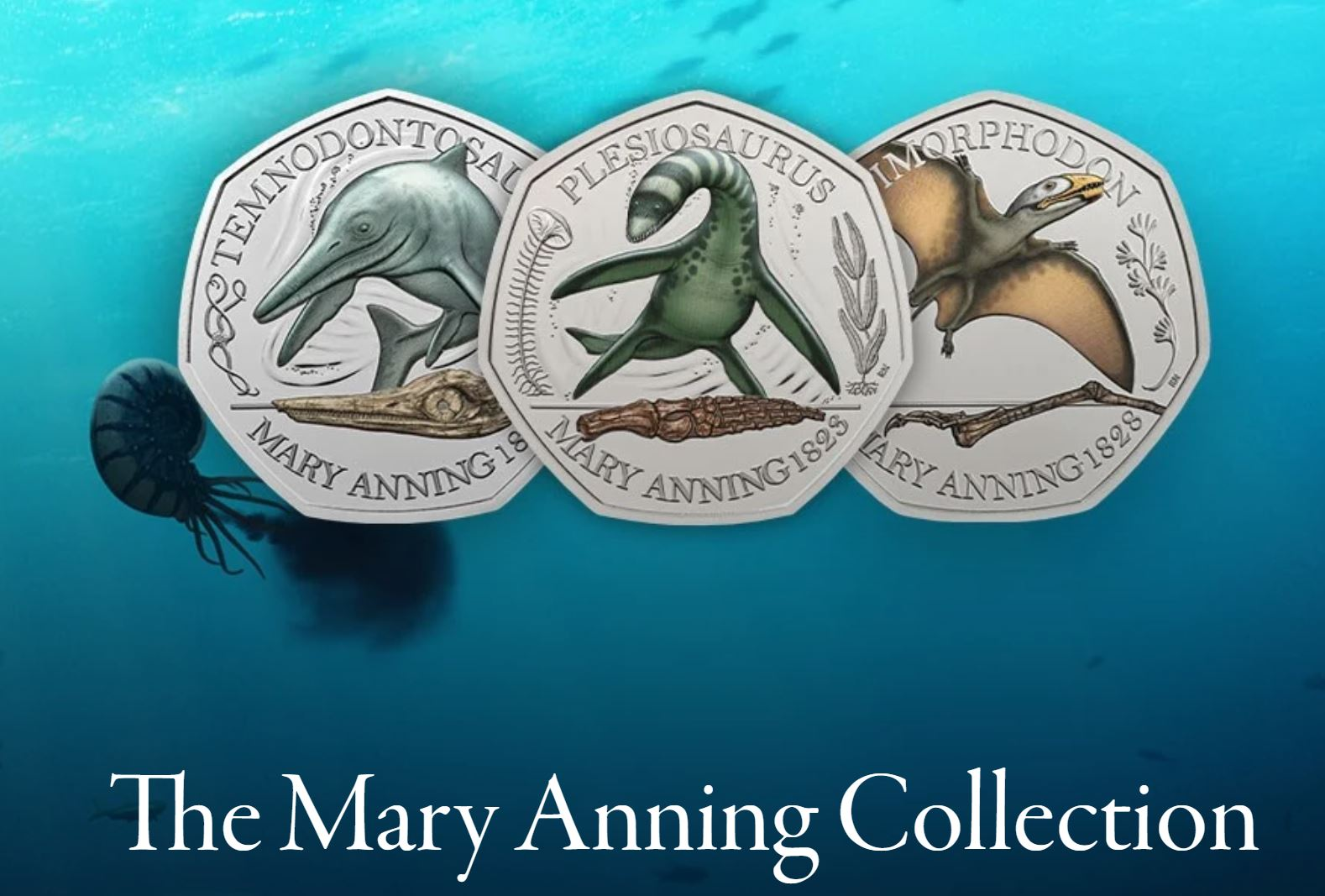 Mary Anning 50p