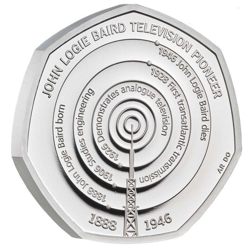 John Logie Baird 50p Silver Coin