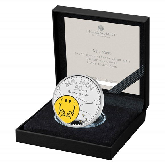 the 50th anniversary of mr men 2021 uk one ounce silver proof coin coin 1 in case left uk21m1sp 1500x1500 f3a2c67