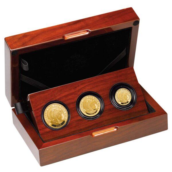 the britannia 2016 premium three coin gold proof set right br16g23