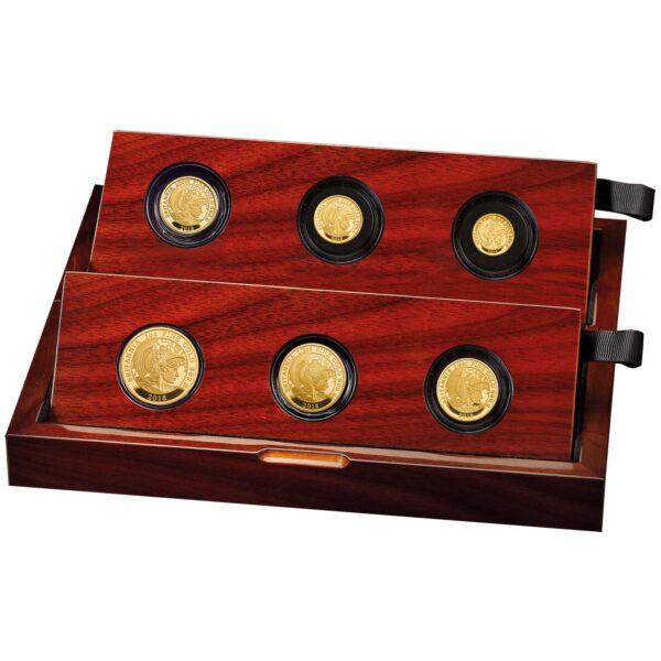 the britannia 2018 premium six coin gold proof set case left br18gset