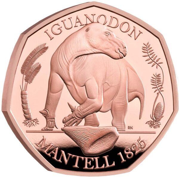 Iguanodon 50p Gold Coin