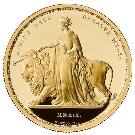 Una and the Lion Gold Coin