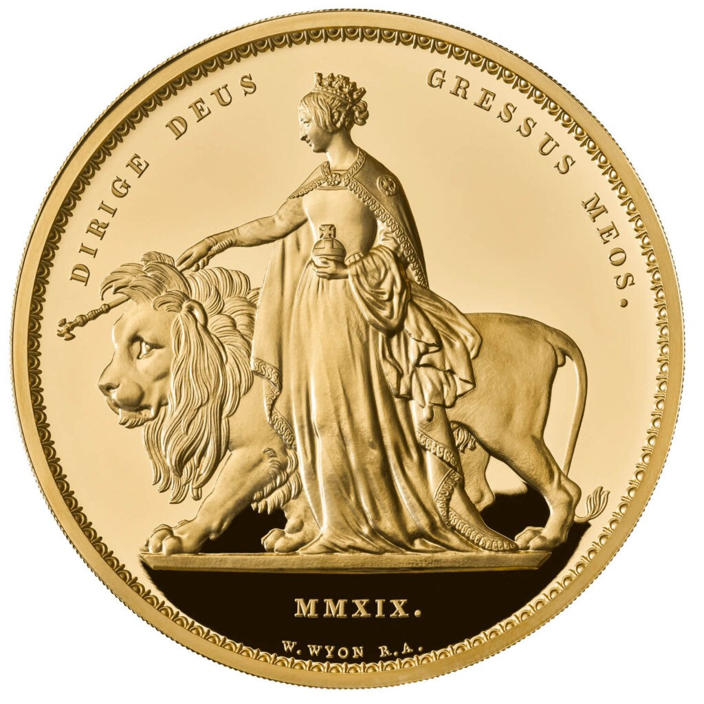 una and the lion kilo gold proof coin