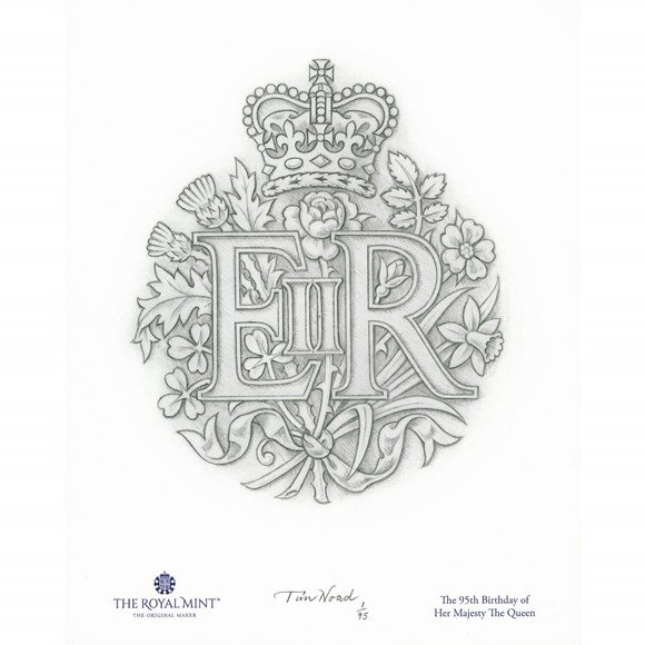 Her Majesty the Queen's 95th Birthday Print by Timothy Noad