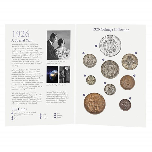 The 95th Birthday of Her Majesty The Queen 1926 Coinage Collection
