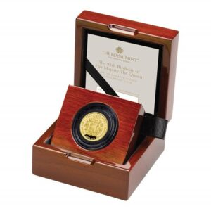The 95th Birthday of Her Majesty The Queen 2021 Gold Proof Quarter Ounce Coin
