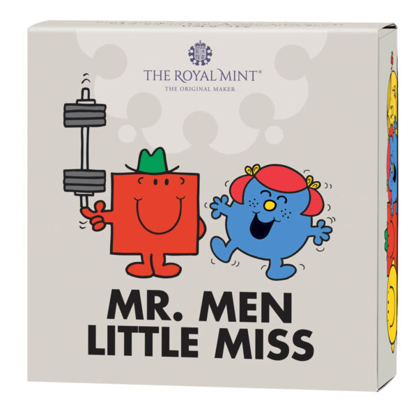Mr. Strong and Little Miss Giggles – The 50th Anniversary of Mr. Men Little Miss 2021 UK Half-Ounce Silver Proof Coin