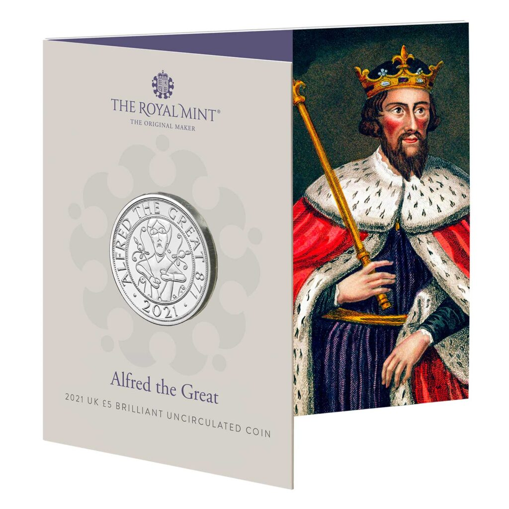 Alfred the Great 2021 UK £5 Brilliant Uncirculated Coin