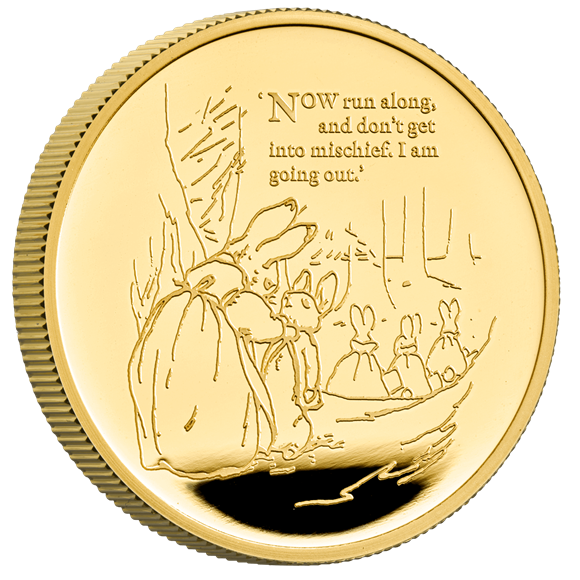 Peter Rabbit 2021 One Ounce Gold Proof Coin