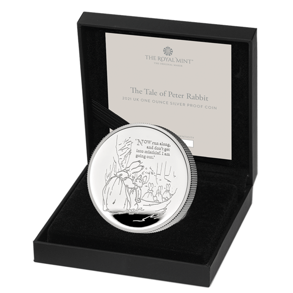 Peter Rabbit 2021 One Ounce Silver Proof Coin