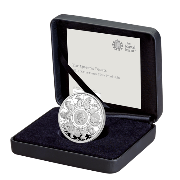 The Queen's Beasts 2021 UK One Ounce Silver Proof Coin