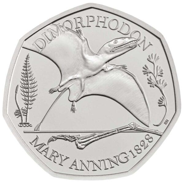 Dimorphodon 50p coin