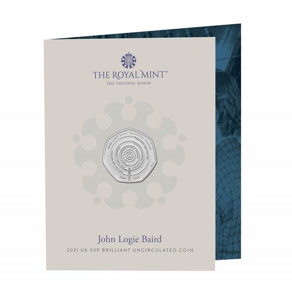 John Logie Baird 50p Brilliant Uncirculated Coin