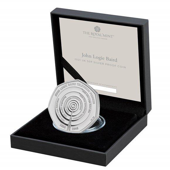 John Logie Baird 50p Silver Proof Coin