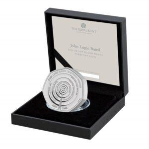 John Logie Baird 50p Silver Proof Piedfort Coin