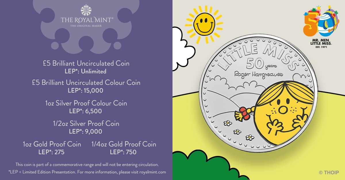 Little Miss Sunshine Coin Mintage Figures