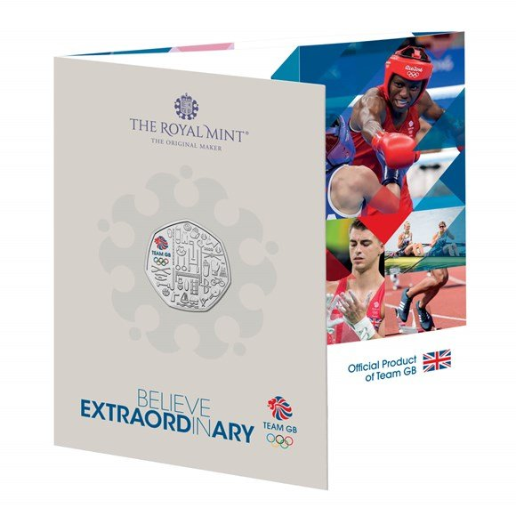 Team GB 2020 Olympics Held in 2021 UK 50p Brilliant Uncirculated Colour Coin