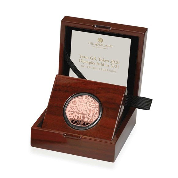 Team GB 2021 UK 50p Gold Proof Coin