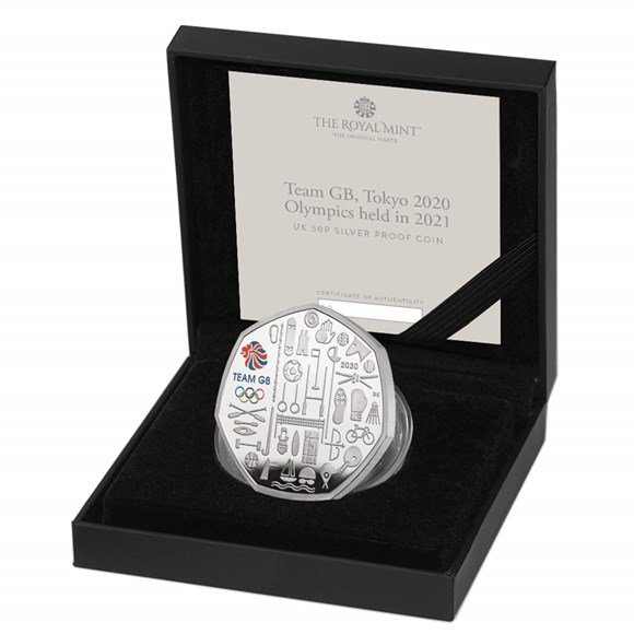 Team GB 2021 UK 50p Silver Proof Colour Coin