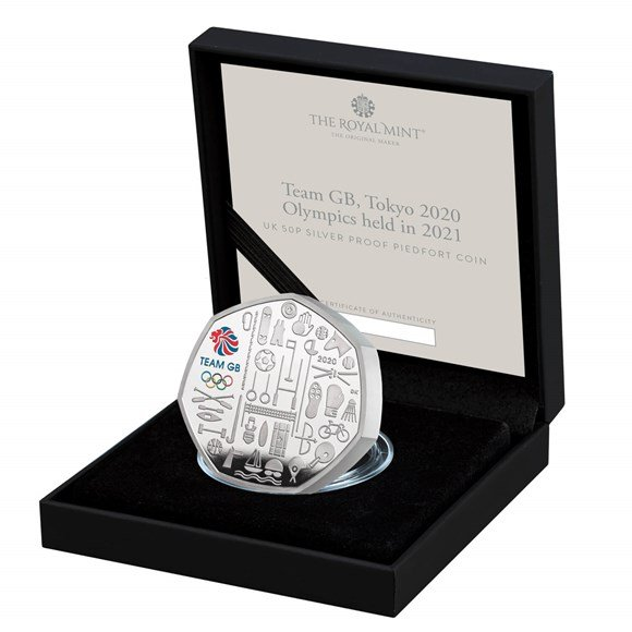 Team GB 2021 UK 50p Silver Proof Piedfort Coin