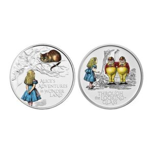 Alice's Adventures 2021 UK £5 Brilliant Uncirculated Coloured Two-Coin Series