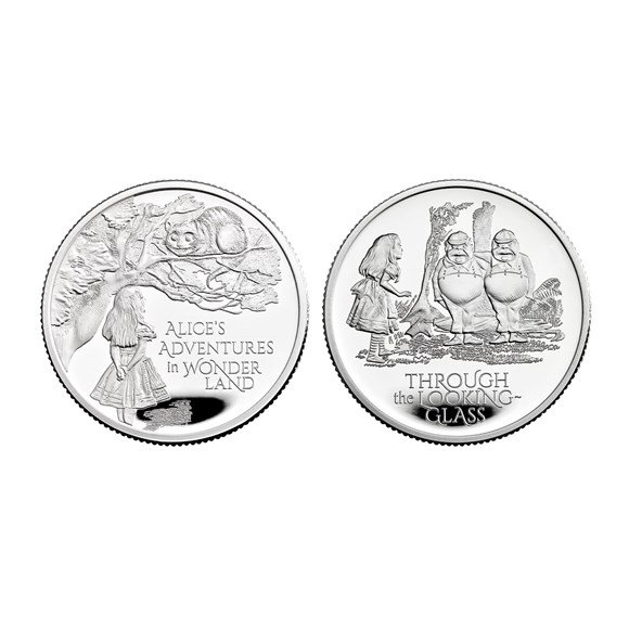 Alice's Adventures 2021 UK Half-Ounce Silver Proof Two-Coin Series