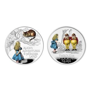 Alice's Adventures 2021 UK One Ounce Silver Proof Coloured Two-Coin Series