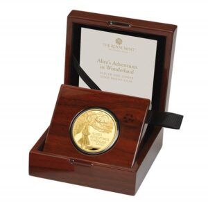 Alice's Adventures in Wonderland 2021 UK One Ounce Gold Proof Coin
