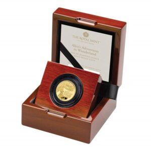 Alice's Adventures in Wonderland 2021 UK Quarter-Ounce Gold Proof Coin