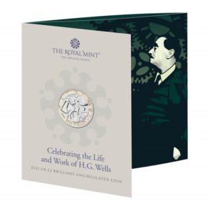 H.G. Wells £2 Brilliant Uncirculated Coin