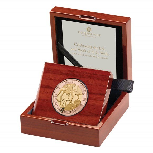 H.G. Wells £2 Gold Proof Coin