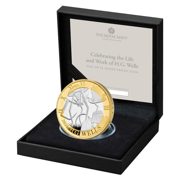 H.G. Wells £2 Silver Proof Coin